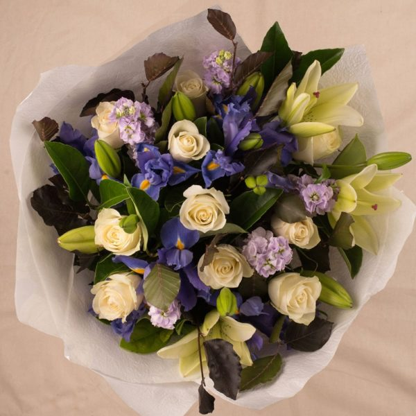 LARGE VIOLET WHITE BOUQUET