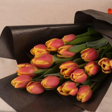 stem pink tulips