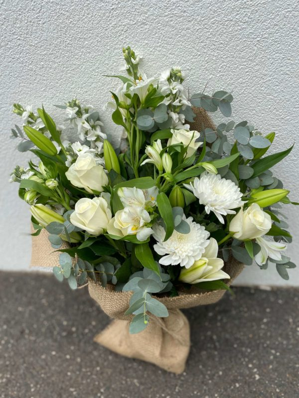 Florist Choice Flower Bouquet (White & Green Theme)
