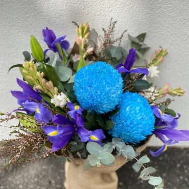 Florist Choice Flower Bouquet (Purple & Blue Theme)