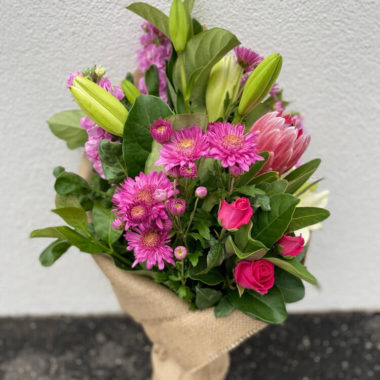 Florist Choice Flower Bouquet (Hot Pink Theme)